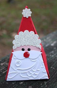 Lauri Ingram  Stampin' Up! Christmas Santa Petal Cone Die
