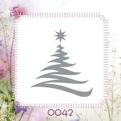 Holiday Christmas Tree Winter DIY Reusable Stencil