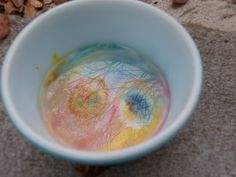 Make a rainbow: One drop of red, yellow, and blue food coloring (make triangular points with them) in a shallow bowl of milk, add a drop of soap in the center and watch what happens.