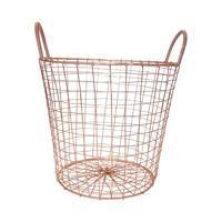 Trådkurv i kobber - small højde: 33 cm Diameter: cm kr. Copper Basket, House Doctor, Household, Chrome, Design, Home Decor, Natt, Chesterfield, Room Ideas
