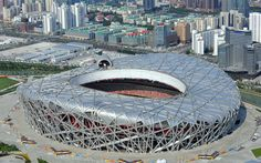 Download wallpapers Beijing National Stadium, sports arena, modern facilities, Birds Nest, Beijing, China