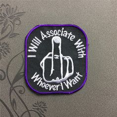 Middle finger patch I will associate with whoever want Individuality Hat patches Embroidered Iron On Patch