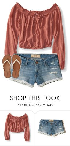 """""""Summer Outfit #3"""" by prettyvm on Polyvore featuring Aéropostale, Hollister Co. and American Eagle Outfitters"""