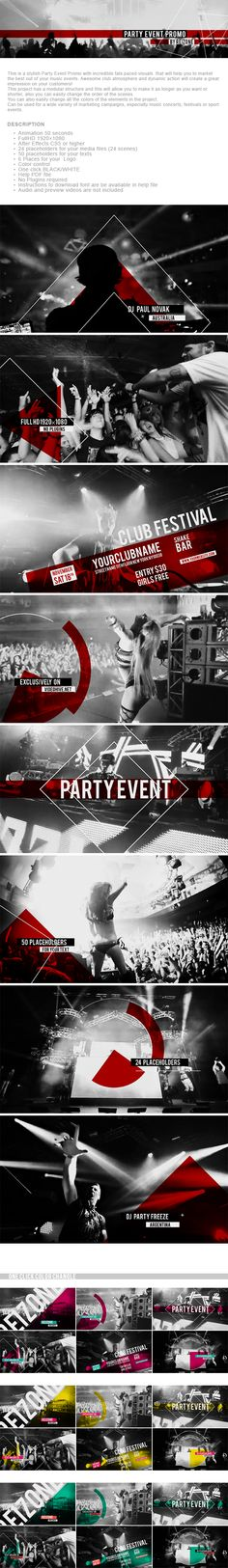 After Effects Project Files - Party Event Promo | VideoHive