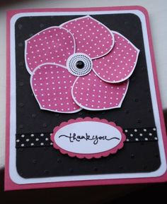 Card. Flower using SU Ornament Punch. I love being able to use punches for more than one use!