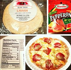 Low Carb Personal Pepperoni Pizza - The Low Carb Diet Healthy Pizza, Low Carb Pizza, Low Carb Diet, Healthy Foods To Eat, Healthy Eating, Protein Pizza, Clean Eating, Low Carb Recipes, Whole Food Recipes