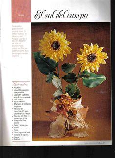 Todo Flores de Porcelana Fria: Girasoles