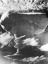First successful British H-bomb test – Operation Grapple X Round C1, which took place over Kiritimati