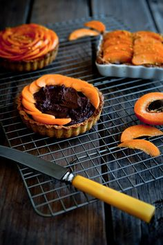 Desserts for Breakfast: Apricot Pistachio Chocolate Mousse Tartlets