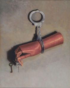 """Locked"" 18""x24"" Oil on canvas. #StillLife #oilpaint #fineart www.Facebook.com/ChristinaGrachekArt"