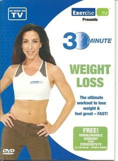 30 MINUTE WEIGHT LOSS TONING AND CARDIO EXERCISE WORKOUT DVD - NEW