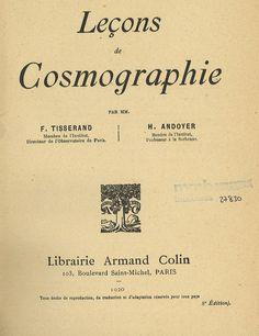 Leçons de cosmographie