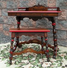 Vintage MONTEREY California Era DESK & STOOL Table Vanity
