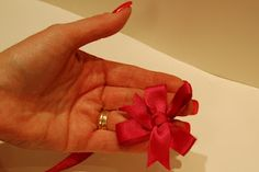 Double satin bow
