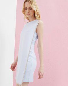 Double layered embellished tunic dress - Blue | Dresses | Ted Baker NEU
