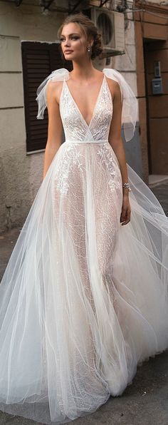 MUSE by Berta : Sicily Wedding Dress Collection -You can find Sicily and more on our website.MUSE by Berta : Sicily Wedding Dress Collection - Lace Wedding Dress, Wedding Dresses 2018, Bridal Dresses, Lace Dress, Prom Dresses, Wedding Bride, Princess Wedding, Weird Wedding Dress, Wedding Beauty