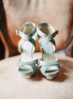 jimmy choo silver heels from California Club Los Angelos wedding #trendybride #weddings