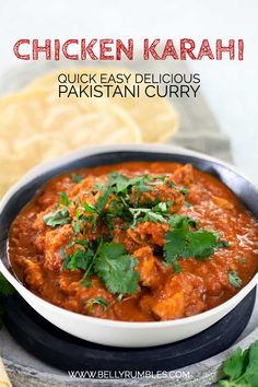 A super quick and easy chicken karahi recipe full of spice and flavour. This delicious Pakistani chicken curry has a tomato and cream base that will have you going back for seconds. Pakistani Chicken Recipes, Indian Food Recipes, Asian Recipes, Pakistani Recipes, Pakistani Chicken Karahi Recipe, Easy Indian Chicken Recipes, Asian Foods, Easy Chicken Curry, Chicken Curry Recipes