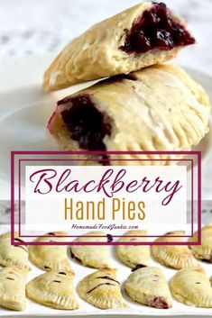 Apple Hand Pies, Fruit Hand Pies, Puff Pastry Desserts, Puff Pastry Recipes, Köstliche Desserts, Dessert Recipes, Blueberry Desserts, Tart Recipes, Healthy Recipes