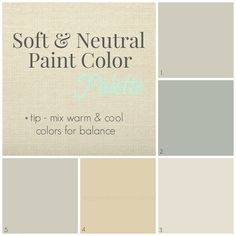 Finding Fabulous: Love these soft & neutral colors. Some to consider when we are able to paint walls again.