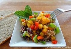 Salade de poivrons, haricots rouges et graines d'amarante