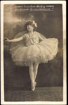 Vintage photo of a young ballerina.