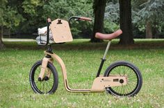 A Modern Dandy Horse for Easy Contemplation - Design Milk Dandy, Bmx Bikes, Cycling Bikes, Velo Design, Loft Design, Wood Bike, Kick Scooter, Inventions, Horses