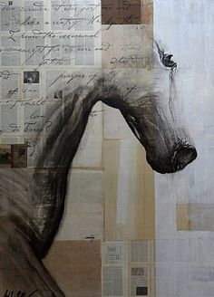 "Ashley Collins, ""Sentry""  mixed media, oil and acrylic on panel. Interesting..."