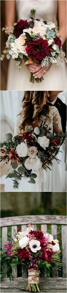 burgundy fall wedding bouquet with succulents_2