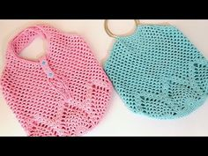 How To Crochet A Net-Bag - Crochetopedia Knitted Baby Clothes, Knitted Bags, Loom Knitting Patterns, Love Crochet, Knit Crochet, Pineapple Crochet, Net Bag, Diy Handbag, Crochet Tote