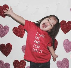 I Love You More Than Cheese Red Toddler Vneck by ZanyDuDesigns