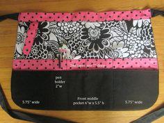 3 Large PADDED Pocket Apron vendor apron half by designsbyLANAIE