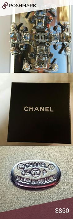 Chanel 06P Collection Silver Cuff Extremely rare, one of my favorite statement items, it is vintage.  Scuffed from ware  (please see close-up photos). Real Chanel bought at Rodeo Drive Chanel store. Good used condition. CHANEL Jewelry Bracelets