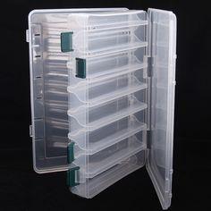 Plastique Fly//Ice Fishing Jig//Lure Box Easy Grip mousse Split mousse livraison gratuite