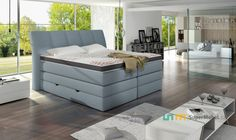 Luxusní postel KORFU Outdoor Furniture Sets, Outdoor Decor, Girl Room, Bench, Bedrooms, Storage, Design, Home Decor, Ideas