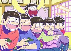 Look at Ichimatsu, wha you called that laught Onii San, Japanese Show, Osomatsu San Doujinshi, Sans Cute, Gifs, Ichimatsu, Pokemon, Videos Funny, Cute Art