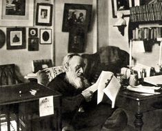 Leo Tolstoy – is working in his study in Yasnaya Polyana estate… Leo Tolstoy Books, Tolstoy Quotes, Russian Literature, Room Of One's Own, Soul On Fire, Writers And Poets, World Of Books, Russian Art, Portraits
