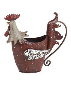 Take a look at this Decoupage Rooster Watering Can by Transpac Imports on #zulily today!