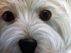 Custom ORIGINAL Dog Pet Cat Horse Animal Portrait large oversized painting oil on linen. $650.00, via Etsy.