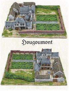 Anglo Allied Troops and Terrain Wargaming Table, Wargaming Terrain, Bataille De Waterloo, Diy Greenhouse Plans, Castle Illustration, Village House Design, La Haye, Farmhouse Floor Plans, Abandoned Churches