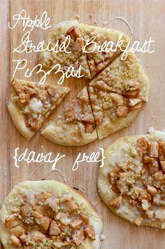Apple Streusel Breakfast Pizzas {dairy free}