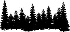 forest shilouettes | Forest clip art - vector clip art online, royalty free & public domain