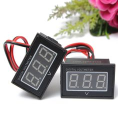 0.56 Inch Waterproof Red Blue LED Light Panel Digital Volt Meterr Tester With Reverse Protection
