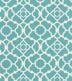 Waverly Home Decor Print Fabric Lovely Lattice Aqua for a set of accent pillows in my living room