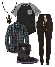 """Untitled #294"" by lean-mean-dean on Polyvore featuring Rick Owens, Hollister Co. and Bedroom Athletics"