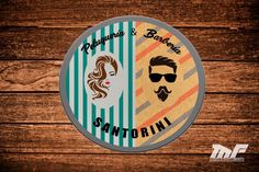 Diseño logotipo #peluqueria #logotipo #barberia Santorini, Design Logos, Santorini Caldera