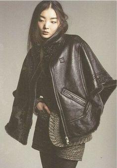 leather cape