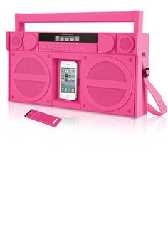 iP4 Portable Boombox....perfect for putting in your basket while you bike in Pacific Beach on your way to Moondoggie's.
