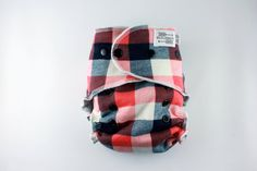 Plaid Cloth Diaper One Size Fitted Cloth Diaper by BICKLEBEAR