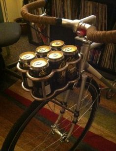 6-pack bicycle basket...@Rebecca Kate this is all you need...booze and exercise...
